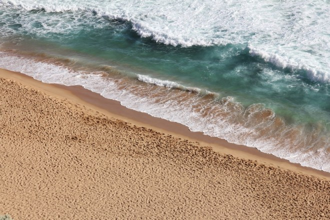 waves and sand