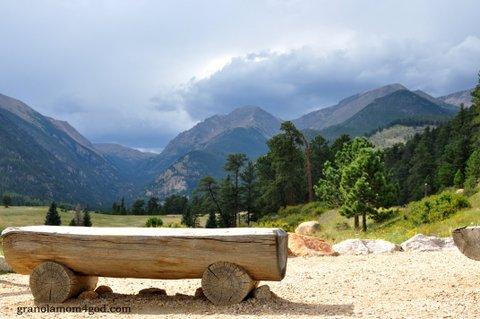 Colorado bench and storm