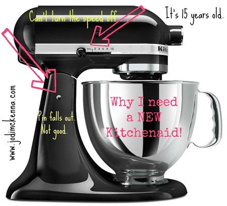 kitchenaid black mixer