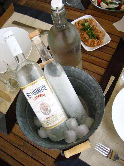 ouzo and Cretan raki