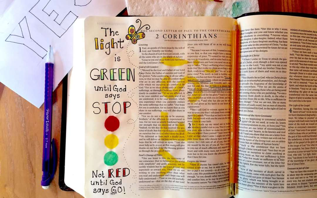 The Light is Green – A Bible Journaling Tutorial for Dreamers