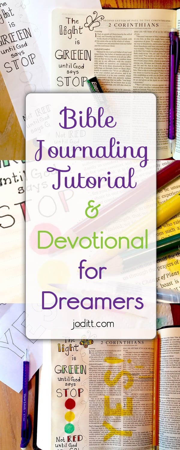 Bible Journaling Tutorial for Dreamers by JoDitt