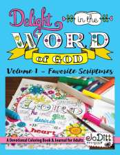 Delight in The Word Devotional Coloring Book for Adults by JoDitt
