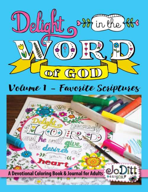 Christian Coloring Book by JoDitt Designs
