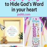 Bible Verse Printables - top ten ways to use them