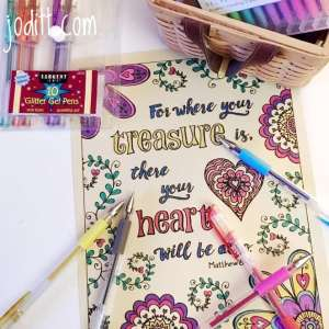 Scripture coloring book by joditt.com
