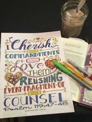 Christian coloring book for adults by JoDitt Designs