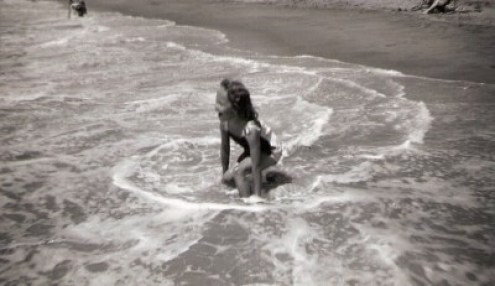 me at beach 5 yrs old