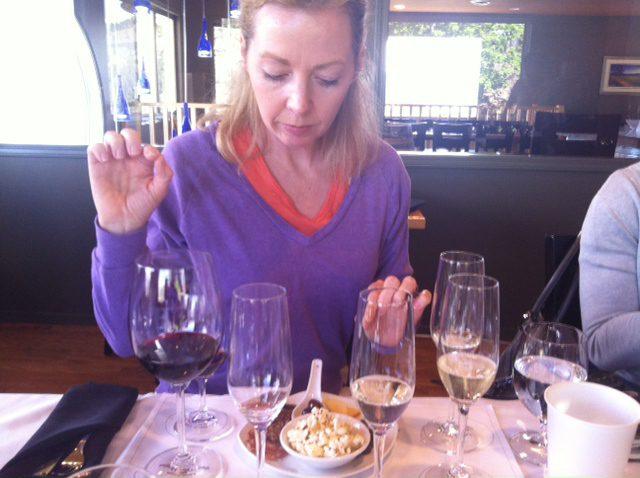 woman wine tasting