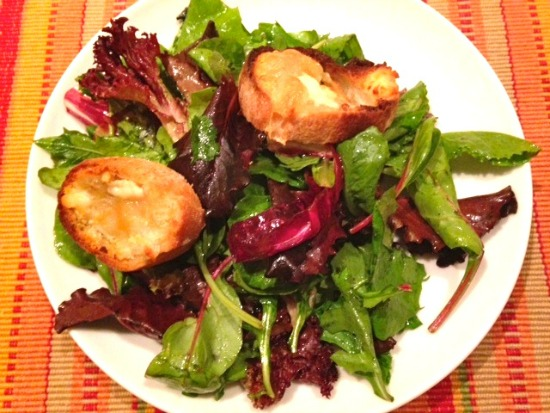 Salad with goat's cheese