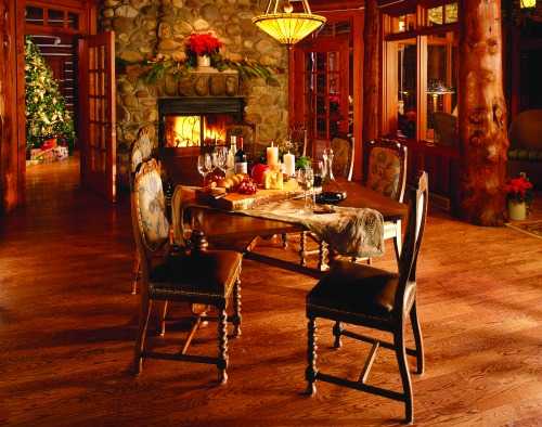 lodge table setting