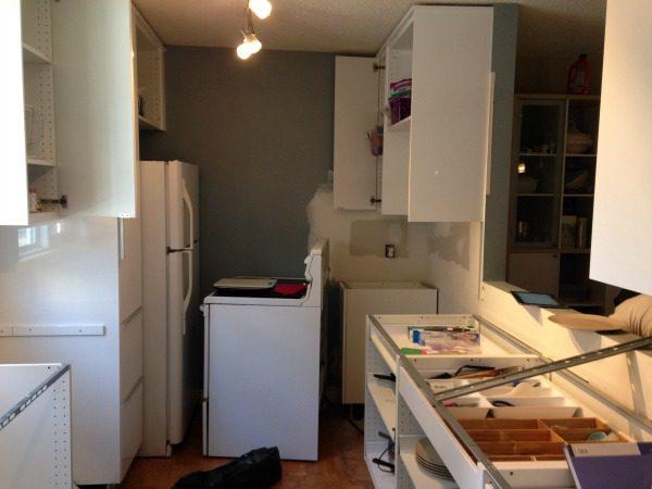 kitchen torn apart