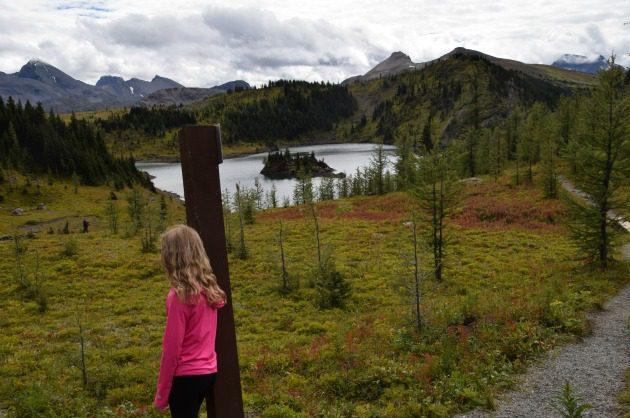 Girl rock isle lake