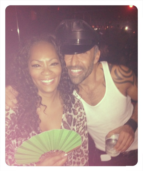 Jody Watley and clothing designer John Eshaya of JET Photo: Jody Watley Music (c) 2013