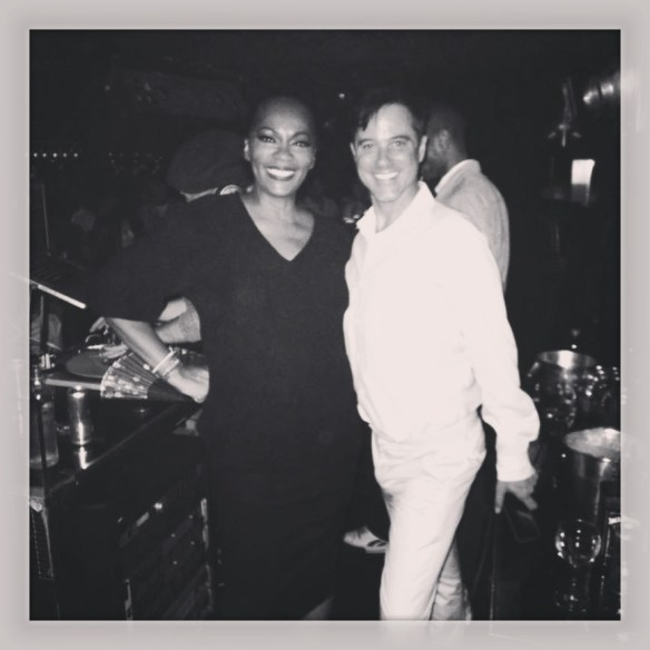 Jody Watley. Bryan Rabon of Giorgio's. With DJ Adam Bravin on the decks. Photo: (c) 2013 Jody Watley via Instagram