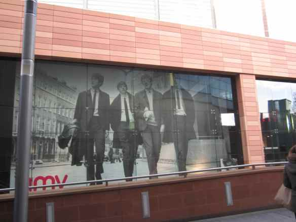 Beatles 50. A capture from HMV..nice to see an actual 'record' store still exists! © 2104 Jody Watley Images