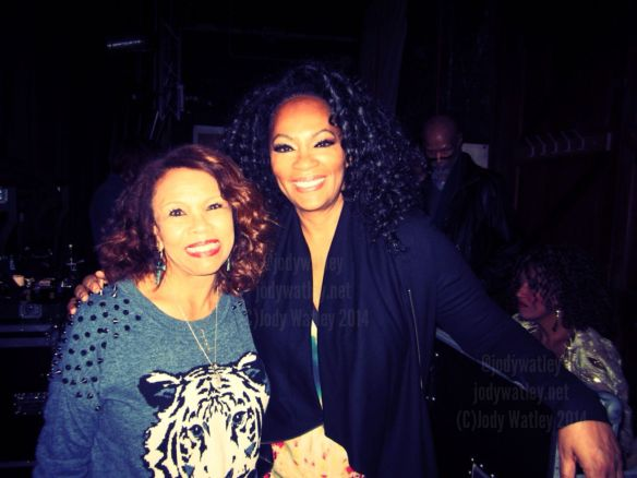 Grooving backstage with Candi Staton - my goodness such great music out here, taken for granted in the states but HIGHLY revered here in the United Kingdom. © 2014 Jody Watley Images. All Rights Reserved.