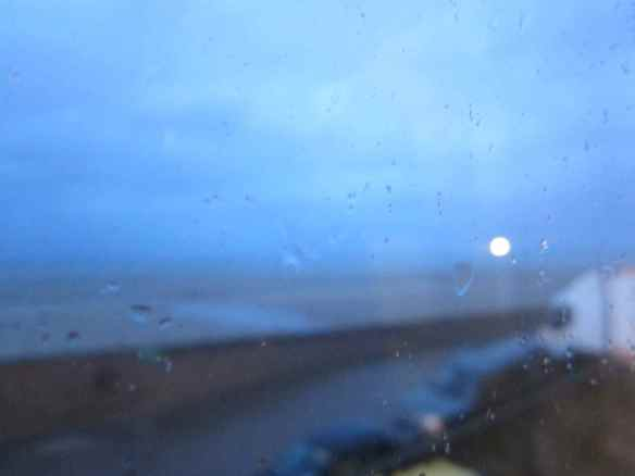 A view from my dressing room - heavy winds and rain by the sea. ©2014 Jody Watley Images