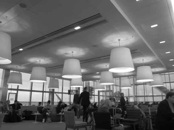 Airport lounge..more captivating light fixtures..and the beat don't stop!