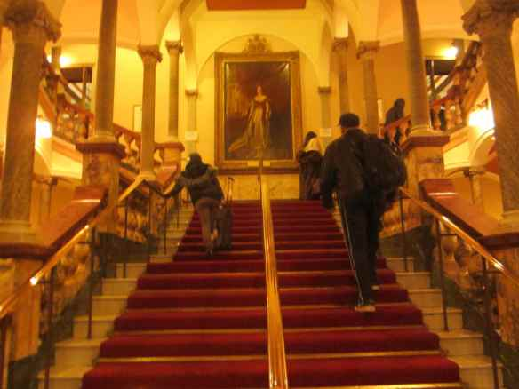 Arriving to Hull - UK. A  gorgeous theater. Grand staircases always remind me of my 'Still A Thrill' video in Paris, France.