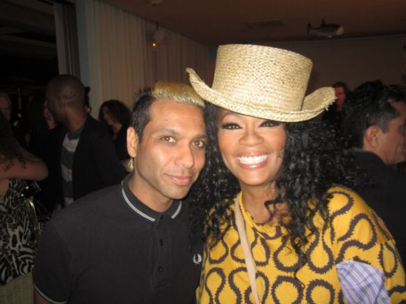 © 2014 Tony Kanal of No Doubt and Jody Watley at Giorgio's Anniversary bash.