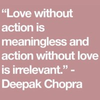 Wattage Thoughts. Love Is An Action Word.