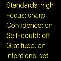 Monday Wattage Thoughts. The Checklist.