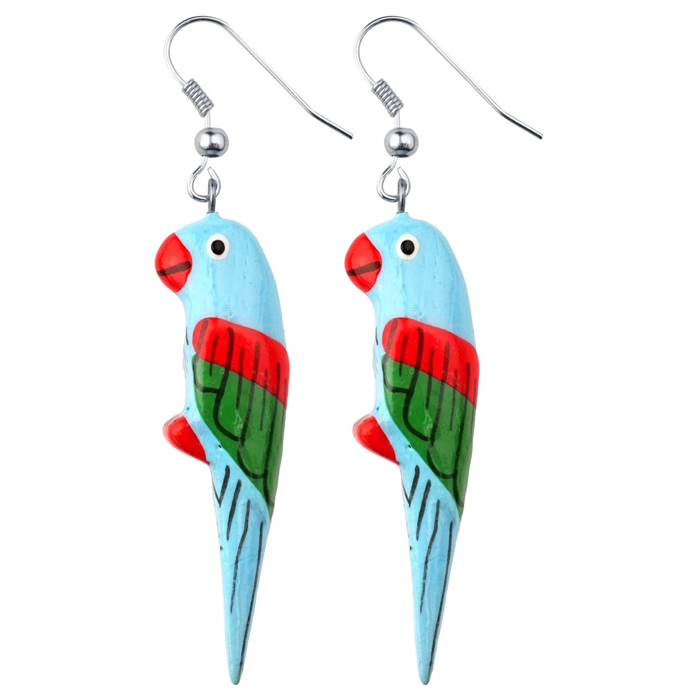 Drop Earring Parrot Made With Enamel by JOE COOL