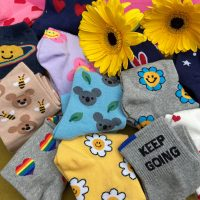 Positive vibes and sunny optimism - say it with socks!