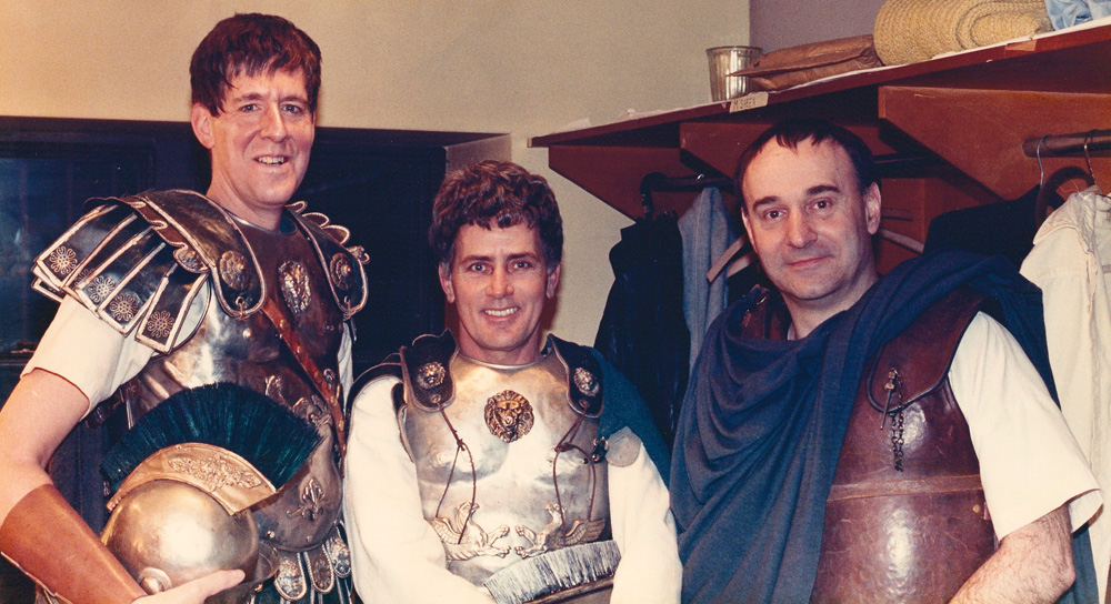 """Martin Sheen and Edward Herrmann with Joe Costa in """"Julius Caesar"""""""