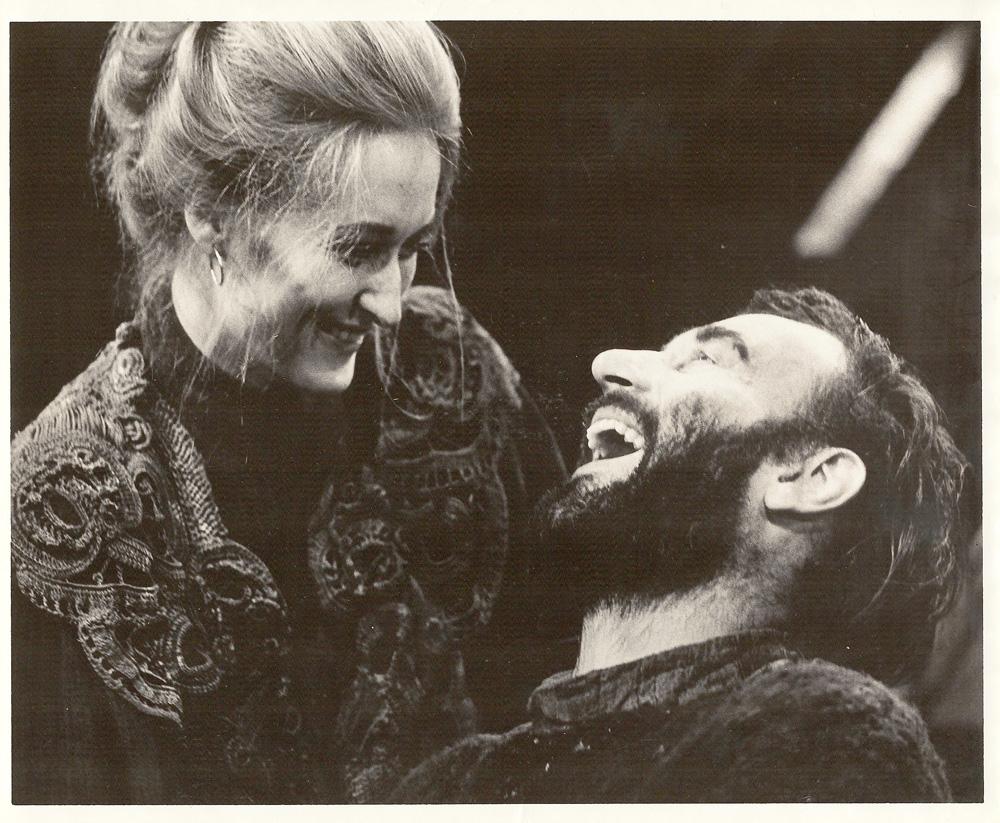 "Meryl Streep with Joe Costa in ""The Lower Depths"""