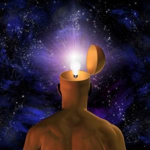 Brain light bulb