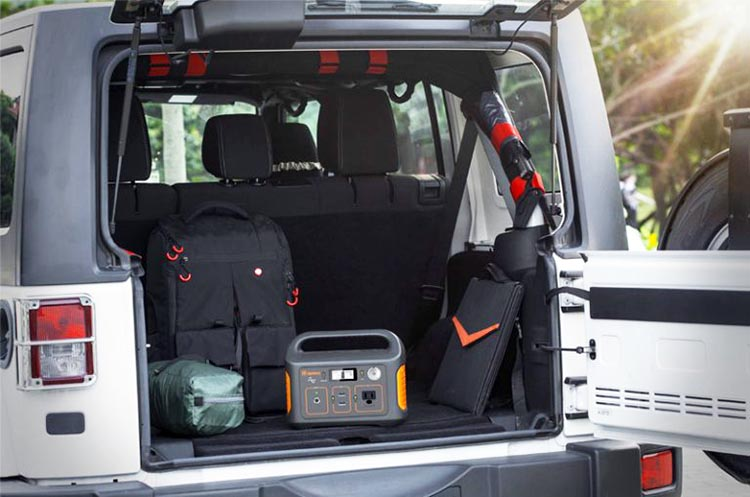 New Jackery Explorer 240 Camping Generator offers Multiple Options for RV living. This photo gives you an idea of how small the Jackery Explorer 240 Camping Generator is