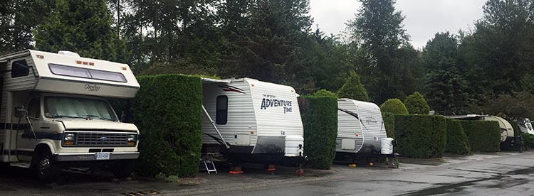 Review of the Burnaby Cariboo RV Park, Near Vancouver. Most of the Burnaby Cariboo RV Park is like a parking lot with hedges
