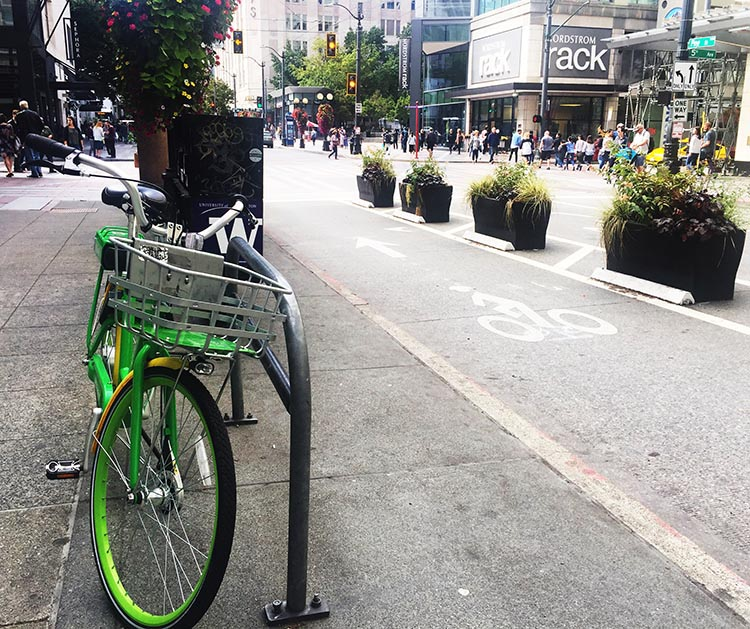 What Can You Do When Your RV is Having Repairs? What Can You Do When Your RV is Having Repairs? Here is a Lime share ebike parked in downtown Seattle