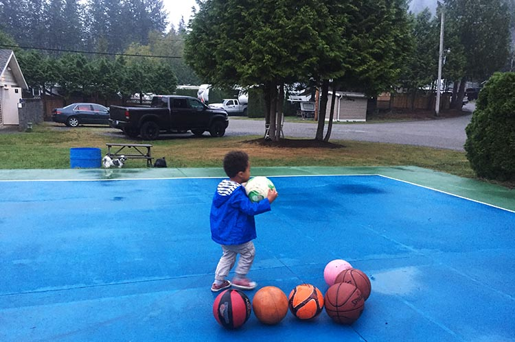 Review of Anmore Camp and RV Park, Near Vancouver. Our grandson Hunter enjoyed the basketball court