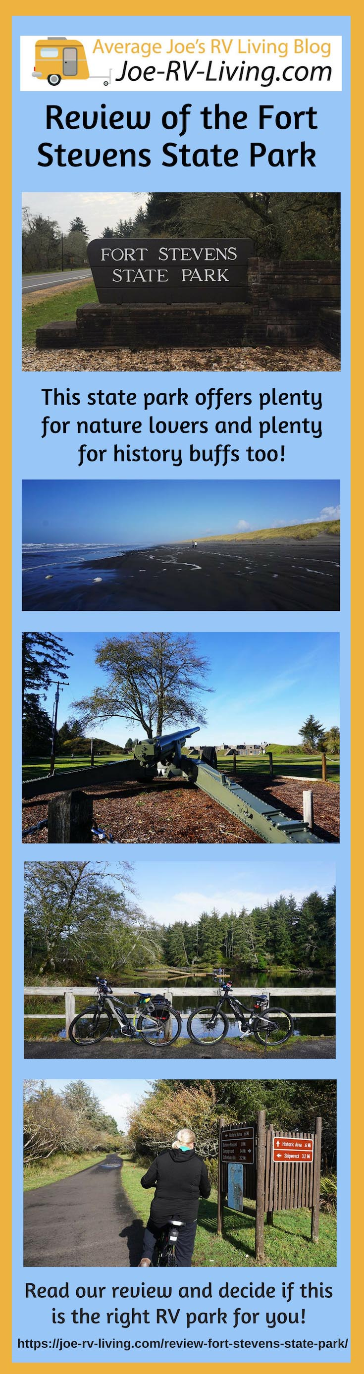Review of Fort Stevens State Park, Northern Oregon Coast