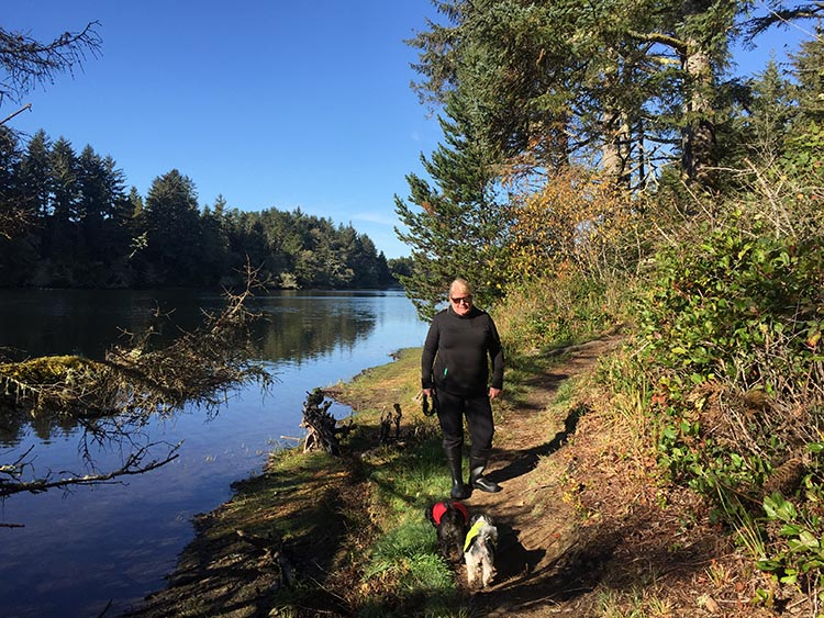 Bike Trails at Fort Stevens State Park in Oregon. We enjoyed hiking around Coffenberry Lake