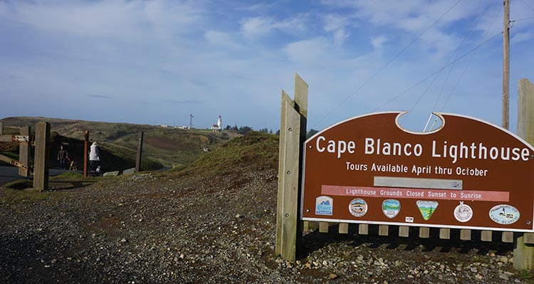 Our Experience of RV Camping at Beverley Beach and Humbug Mountain State Parks, Oregon Coast. As Cape Blanco Lighthouse was closed for the winter, we had to hike a fair way to go and see it