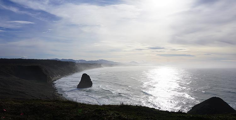 Our Experience of RV Camping at Beverley Beach and Humbug Mountain State Parks, Oregon Coast. We enjoyed stunning views all the way on our hike to Cape Blanco Lighthouse