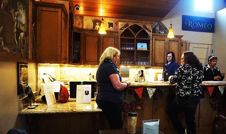 Wine tasting at Romeo Vineyards on Lincoln Avenue in Calistoga, Napa Valley