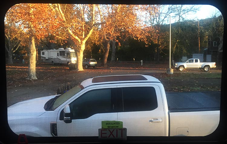 This was the view from our window in Calistoga RV Park. This was during the week, when it was quite empty
