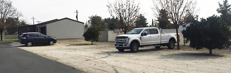 Review of A Country RV Park, Bakersfield, California. Here is our truck parked in the large parking area at A Country RV Park in Bakersfield