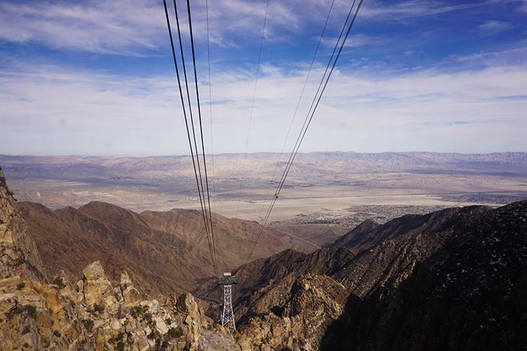 RV Camping in California. The Palm Springs Aerial Tramway is a spectacular experience