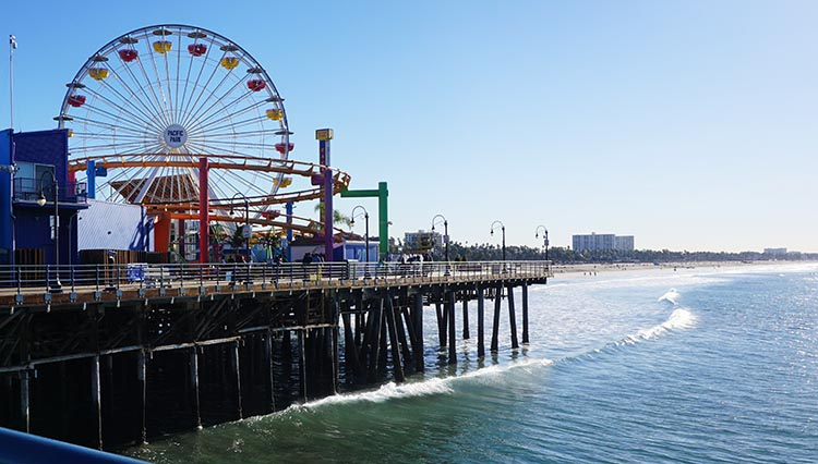 RV Camping in California. Santa Monica Pier