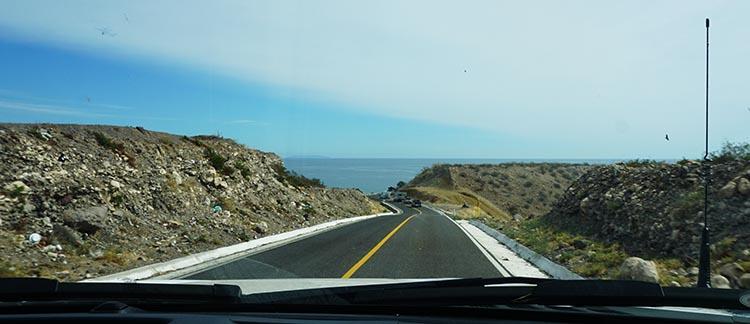 Day 5 of our RV Trip with Baja Winters: San Ignacio to Santispac Beach, Bahía de Concepción, Baja California Sur, Mexico. Here is the view we saw as we finally reached the Sea of Cortez