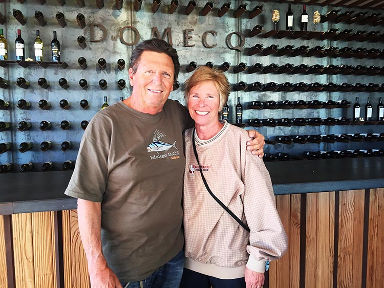 These are the wagon masters of the trip, John and Becky Smith, who own the Baja Winters Travel Club. I took this photo later on the trip