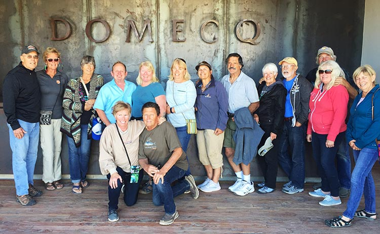 Most of our group at the Domecq Winery