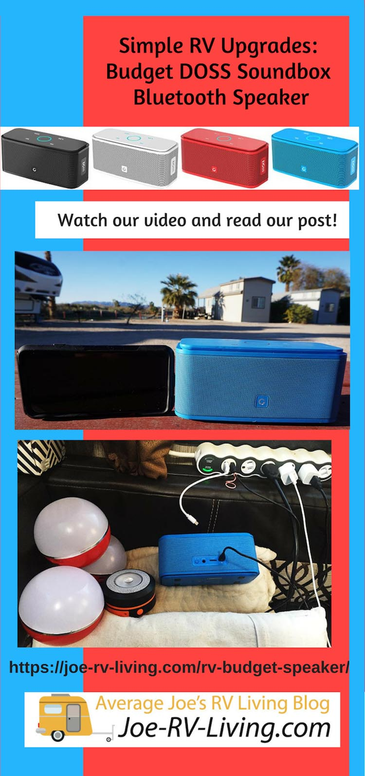 Simple RV Upgrades: Budget DOSS Soundbox Bluetooth Speaker