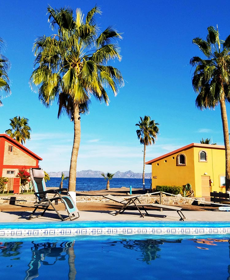 Another view of the pool at Loreto Shores Villas and RV Park - Photo by Juli Cooley